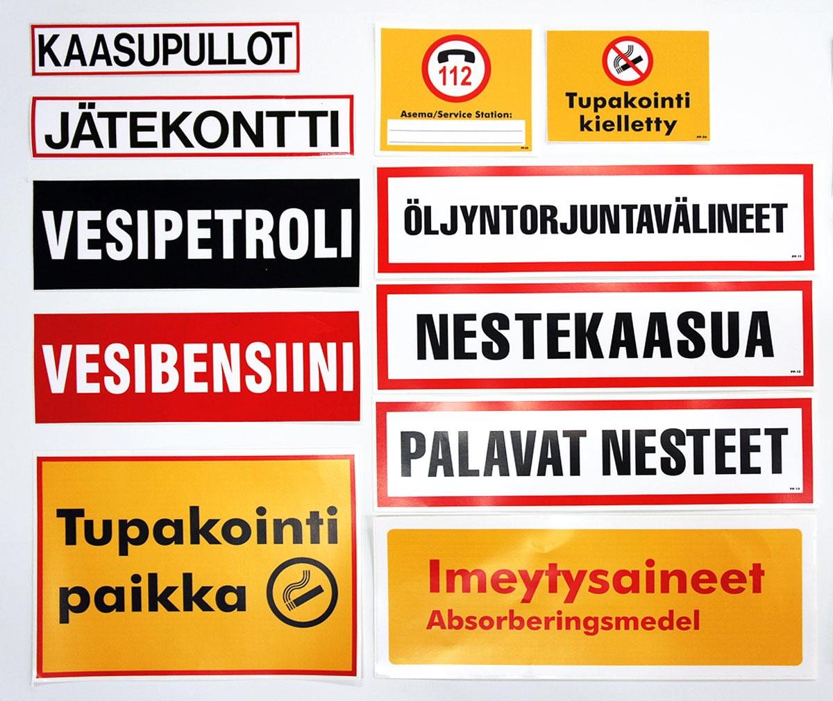 Vaarallisten aineiden merkintä- ja opastarrat